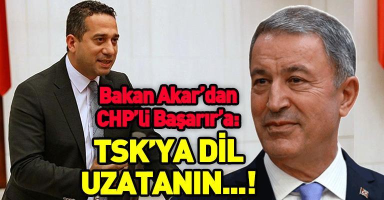 """Bakan Akar, Türk ordusuna """"satılmış"""" diyen Başarır'a tepki gösterdi..."""