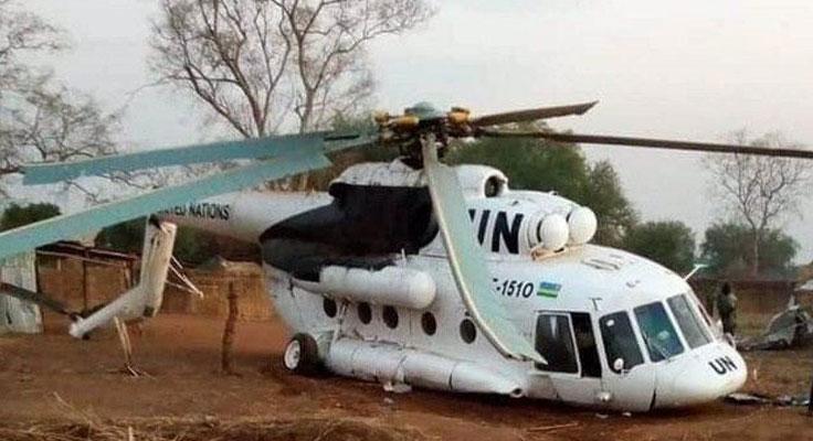 Sudan Etiyopya sınırında askeri helikopter düştü!