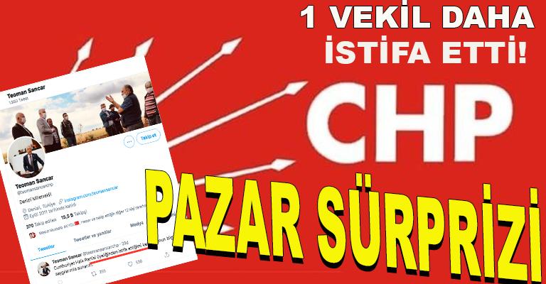 CHP'deki istifa depreminin artçısı yaşandı: Denizli Milletvekili Teoman Sancar ist...