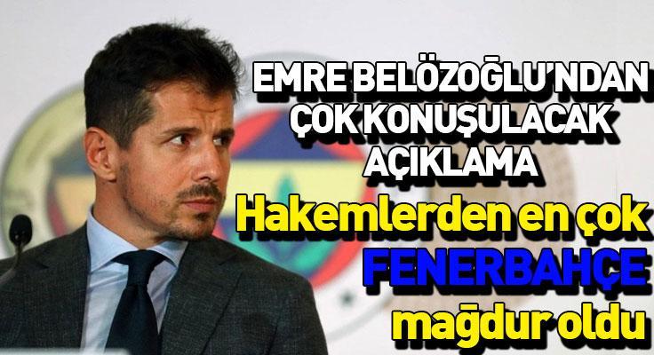 """Emre Belözoğlu: """"En fazla biz mağdur olduk"""""""