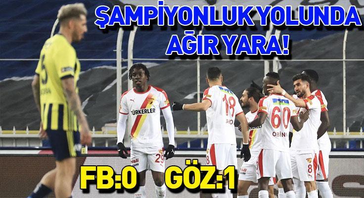 Fenerbahçe'ye soğuk duş! Göztepe'ye 3 puan bıraktı