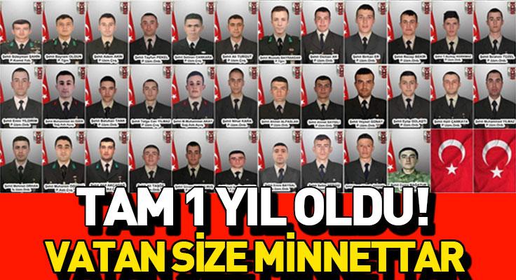 İdlib'de 36 kahramanımızın şehit olmasının 1 yılı!