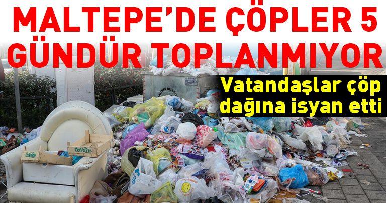 Belediye işçileri grev yaptı! Maltepe çöple doldu