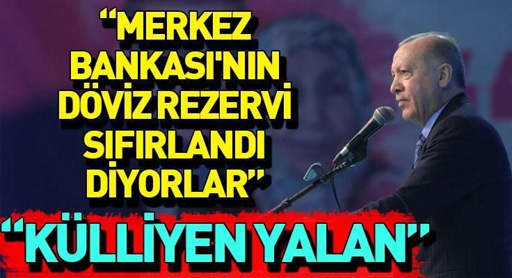 """Cumhurbaşkanı Erdoğan: """"95 milyar dolar döviz rezervimiz var"""""""