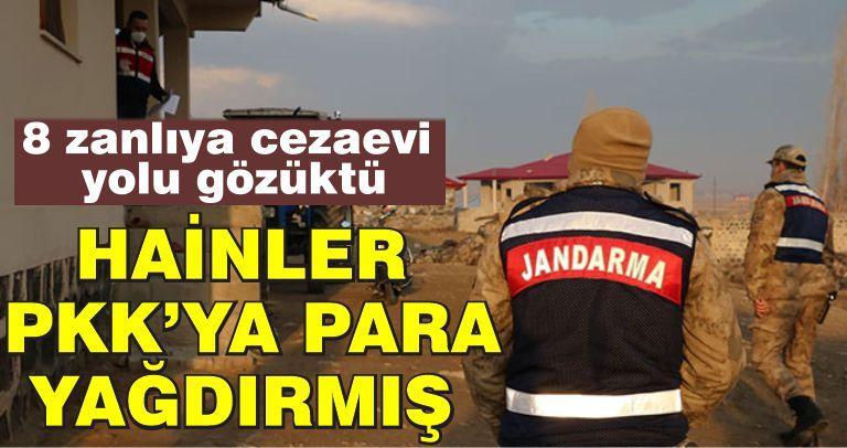 PKK'ya yardım yapanlara operasyon! 8 kişi tutuklandı