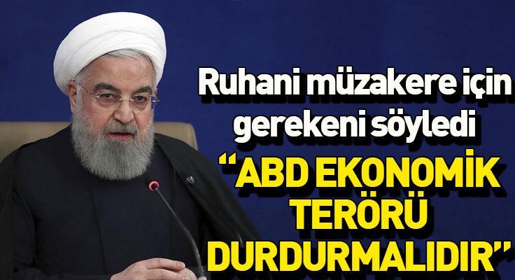 """İran Cumhurbaşkanı: """"ABD'nin yeni yönetimi ekonomik terörü durdurmalıdırR..."""