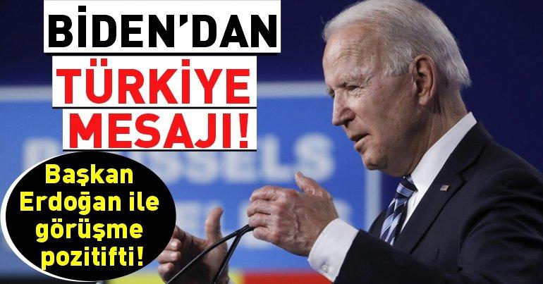 """ABD Başkanı Biden: """"Erdoğan ile pozitif ve verimli bir toplantı yaptık"""""""