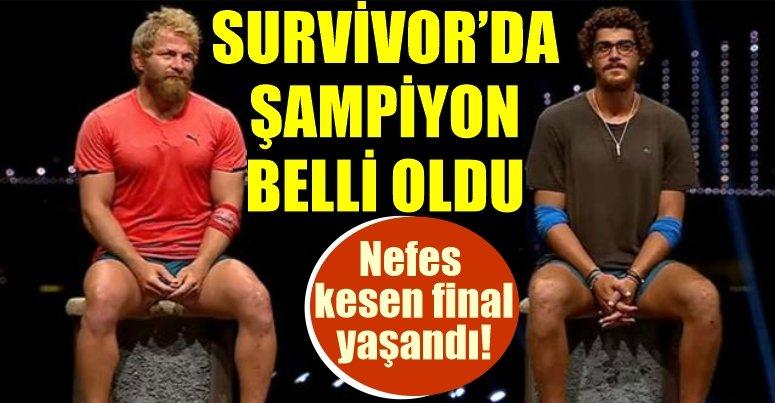 Survivor 2021 şampiyonu İsmail Balaban oldu!