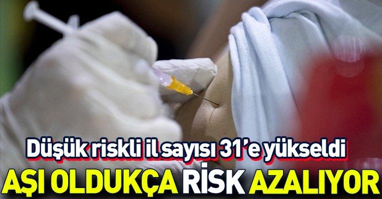Adana, Çorum ve Mersin de aşılandı, risk azaldı