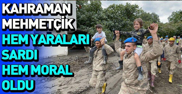 Kastamonu'da sel felaketinin etkileri Mehmetçik desteğiyle siliniyor
