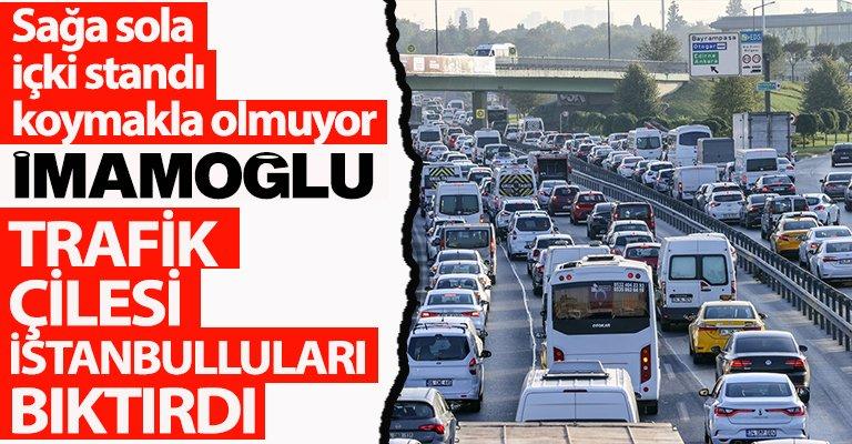 İBB'nin ilgisizliği İstanbul trafiğini kilitledi!