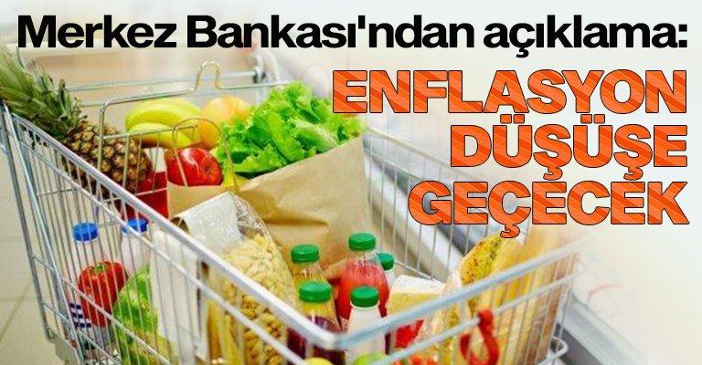 TCMB: Enflasyon son çeyrekte düşüş eğilimine girecek