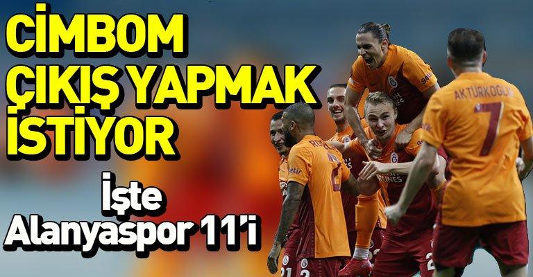 Galatasaray Alanyaspor'u ağırlıyor! İşte 11'ler
