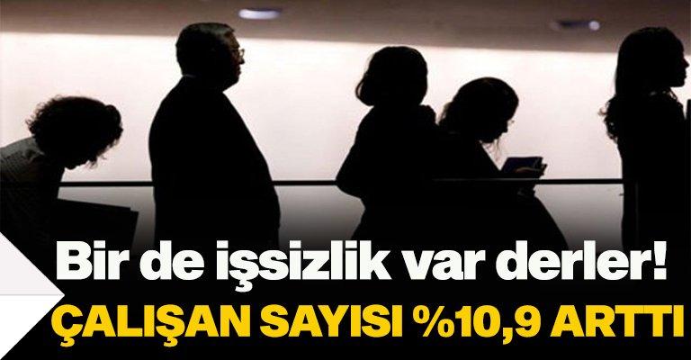 Türkiye'de ücretli çalışan sayısı 10,9 arttı