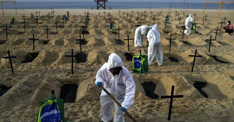 Brezilya korona ölümlerinin önüne geçemiyor! 600 bini geçti