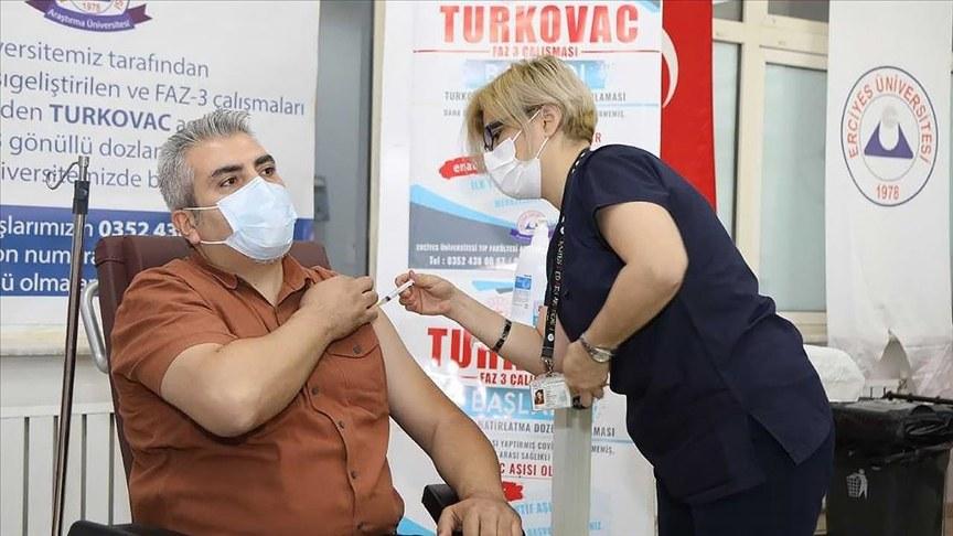 TURKOVAC aşısı 3.doz olarak uygulanmaya başladı